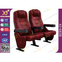 Buy cheap Plastic Armrest Metal Frame Floor Fixed Standing Movie Theater Seating Chairs from wholesalers