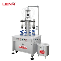 Buy cheap 30ml 60ml 100ml 80ml 20ml glass bottle rotary 10/8 nozzles automatic spray vacuum perfume filling machine filler from wholesalers