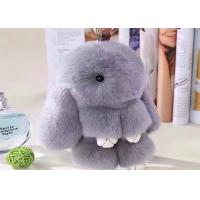 Buy cheap 100% Handmade Handbag Bunny Fluffy Keychain Christmas Gift With Customized Color from wholesalers