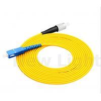 Buy cheap FC-SC connector optical fiber patch cord single mode simplex pvc / lszh cable product
