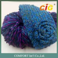Buy cheap 100 Acrylic / Cotton / Wool Colorful Yarn Knitted For Woman Scarf In Spring / Winter product