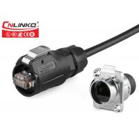 Buy cheap Cnlinko M16 PBT Shielded Ethernet Plastic Industrial RJ45 Ethernet Connector from wholesalers