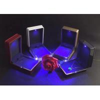 Buy cheap Easily Cleaning Jewelry Plastic Box Hot Stamping Logo Printed With LED Light from wholesalers