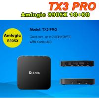 Buy cheap TX3 PRO Android 6.0 Amlogic S905X Quad Core 64Bit wifi tv smart box VP9 HDR 4K KODI H.265 from wholesalers