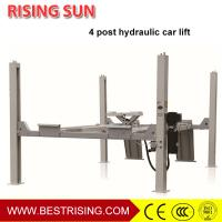 China Hydraulic design wheel alignment used 4 post car lift for garage on sale
