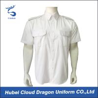 Buy cheap Summer Police Uniform Shirts White Short Sleeve For Military Tactical from wholesalers