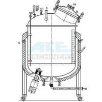 Buy cheap Stainless Steel Mixing Tank with Agitator 500L 1000L Steam Jacket Heating And Cooling Mixing Tank from wholesalers