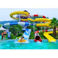 Adult Construction Spiral Swimming Pool Slide Theme Park Water Slide 90 KW Power