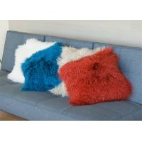 Buy cheap Mongolian Real Fur Decorative Cushion Cover Pillow Case for Living Room Bedroom from wholesalers