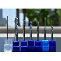 Buy cheap Solid Tungsten Carbide nACo4 coating 0.25mm Left Hand Carbide Drill Bits from wholesalers