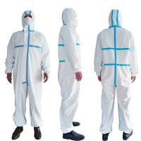 Buy cheap PPE Disposable Protective Suit , Chemical Protective Coveralls Clinical Mutiple product