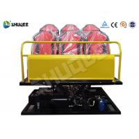 Buy cheap 6 Seats Yellow 6-DOF Hydraulic Platform Type 7D Cinema System All the equipment product