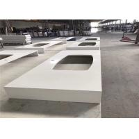 Buy cheap Pure White Quartz Worktop , Prefab Kitchen Island Countertop With Special Design from wholesalers