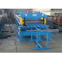 Buy cheap Metal Roof Making Machine Production Line , PPGI Steel Glazed Tile Making Machine from wholesalers