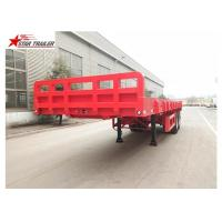 Buy cheap 9.5 Meters 2 Axles Pipe Transport Trailer Commercial Semi Truck Type from wholesalers