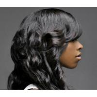 Buy cheap Wavy Weave Brazilian Peruvian Virgin Malaysian Hair Black Loose Wave Hair from wholesalers
