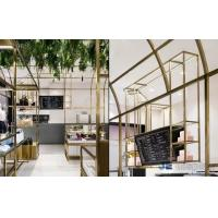 Buy cheap Retail Store interior Display Fixtures Stainless steel Cloth Display Racks with Women Bag Counter Luxury Tables from wholesalers