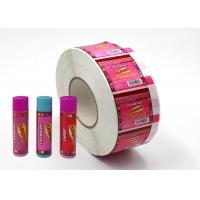 Buy cheap Hard - Wearing Custom Adhesive Labels Pink Color Non Toxic For Lip Balm from wholesalers
