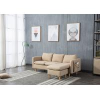 Buy cheap Light Skin Contemporary Bedroom Furniture Fabric Corner Sofa Set Three Seater from wholesalers