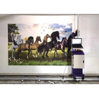 Buy cheap DX5 DX7 DX800 Head 0.5CM 20ML/㎡ Wall Inkjet Printing Machine from wholesalers