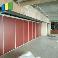 Buy cheap Hotel Acoustic Temporary Sound Proof Partitions Sliding Folding System from wholesalers