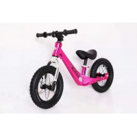 Buy cheap 2021 New Model 12inch Magnesium Alloy Baby Push Bike Kids Balance Bike Electroplating Rose Red from wholesalers
