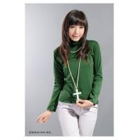 Buy cheap Women's Popular Green Cotton Shirt Online Sell from wholesalers
