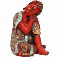Buy cheap Polyresin Sleeping Buddha Statue in Red, Made of Resin from wholesalers