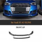 Buy cheap Facelift S3 Carbon Fiber Front Valance Kit for Audi S3 8V A3 Sline Sedan 17-18 from wholesalers