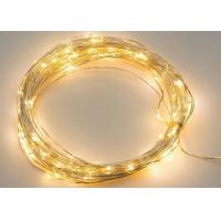 Buy cheap Flexible Cable Battery Operated LED String Lights White / Purple For Xmas from wholesalers