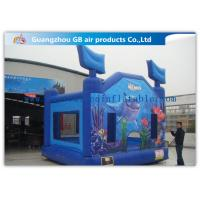 Buy cheap Blue Ocean Commercial Inflatable Bouncy Castle Kids Jumping Castle For Amusement Park product