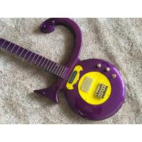Buy cheap Custom guitar shop prince guitar Purple color boat anchor electric guitar with golden hardwares plastic pickguard from wholesalers