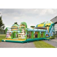 Buy cheap Safety Jungle World Commercial Inflatable Slide With Obstacle Course from wholesalers