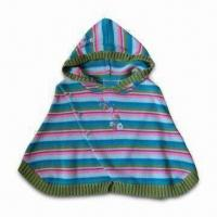 Buy cheap Baby Sweater with Hood, Made of 10% Cotton, Y/D Stripes, Available in Various Styles from wholesalers