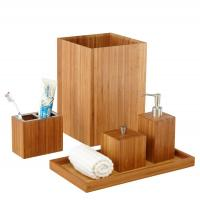 Buy cheap Customized Bamboo Bathroom Supplies 5 Piece Bamboo Bath And Vanity Box Antibacterial from wholesalers