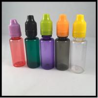 Buy cheap 20ml PET E Cig Liquid Bottles With Childproof  Tamper Cap And Long Thin Tip Dropper Bottle from wholesalers