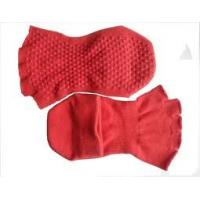 Buy cheap Comfortable Breathable Ladies Red Open Toe Non-slip Socks With Grip for Yoga and Pilates from wholesalers