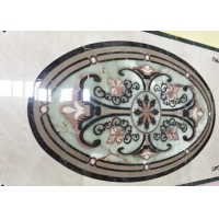 Buy cheap White Round Dia 90cm Water Jet Medallions Flooring Designs product