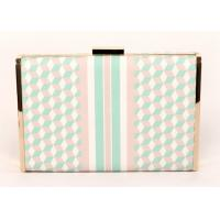 Buy cheap Luxury Ladies Leather Clutch Bags Pu Leather Material With Special Printing from wholesalers