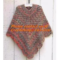 Buy cheap Women Crocheted Poncho,Purple Scarf,Wool Knitted Sweater Green Free Knitting Crochet Woman from wholesalers