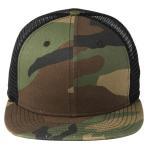 Buy cheap Green Camo / Black Mesh Snapback Hats , Full Closure Mens Mesh Ball Caps from wholesalers