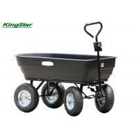 Buy cheap Black Heavy Duty Garden Utility Cart Wagon Carrier Rust Free For Transport Wood from wholesalers