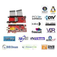 Buy cheap PCI-E DVB-S2 Dual Tuner Dual CI TV Card from wholesalers