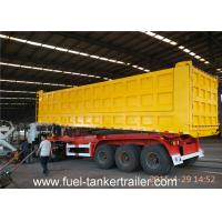 Buy cheap Tri Axles Side dumper trailer truck with 10 / 10 / 10 Heavy duty leaf spring suspension from wholesalers