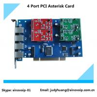Buy cheap TDM410P 4 Port fxs/fxo PCI Asterisk Card, Analog Card same as digium card from wholesalers
