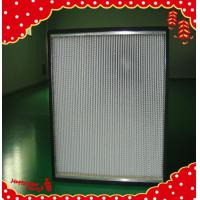 Buy cheap 915x610x150mm fiberglass filter media minipleated high temperature air filtration from wholesalers