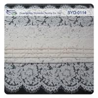 Buy cheap White Corded Bridal Lace Fabric For Wedding , Embroidery Lace Fabric from wholesalers