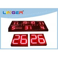 Buy cheap Separate Frame Football Stadium Scoreboard With Shot Clock Front Face UV Protection from wholesalers