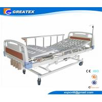 Buy cheap Professional Manual Hospital Bed With Pad , Three Crank Medical Equipment Beds from wholesalers
