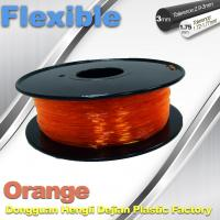 Buy cheap Orange Flexible 3D Printer Filament Consumables With Great Adhesion product